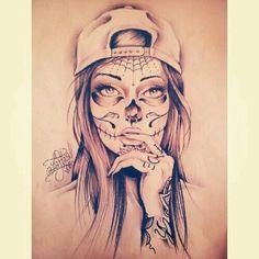 Bildergebnis für la catrina tattoo vorlage – Bilder Clubs - Famous Last Words Sugar Skull Mädchen, Sugar Skull Tattoos, Sugar Tattoo, Sugar Skull Sleeve, Tattoo Sketches, Tattoo Drawings, Body Art Tattoos, Tattoo Arm, Skull Drawings