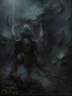 Lich in the fog, performing some sort of (undoubtedly evil) magicks. Legend of the Cryptids