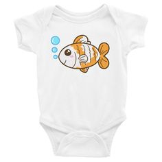 Fishy Onesie, Shirts, matching family outfits - Winky Shiba Co. Matching Family Outfits, Shiba, Baby Bodysuit, Onesies, Infant, Cute, Kids, Clothes, Collection