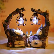 Japanese Anime 20cm My Neighbor Totoro Led Nightlight Action Figure Kaonashistudio Ghibli Miyazaki Hayao Toy Action & Toy Figure(China)