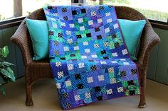 New Purple Passion Handmade Patchwork Throw Quilt