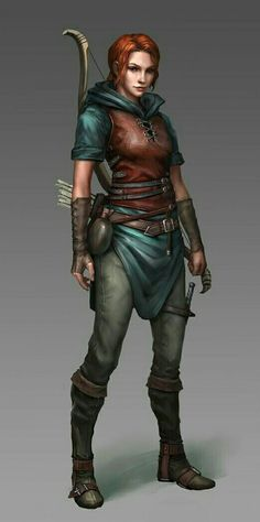Human Female Rogue - Pathfinder PFRPG DND D&D d20 fantasy
