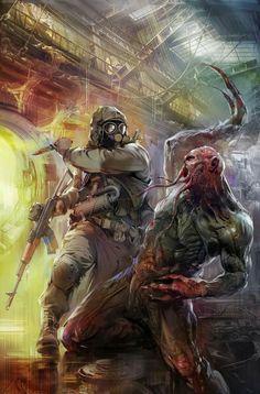 Post Apocalypse, Apocalypse Survival, Arte Zombie, Zombie Art, Apocalypse Character, Post Apocalyptic Art, Fallout, Military Art, Cthulhu