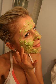 Rehydrating Face Mask: 1/2 cucumber; 1/2 avocado, pitted and peeled; 1 egg yolk; 1 TBSP honey. Chop up cucumber & avocado. Add all 4 ingredients to a food processor & process into a paste. Apply mask to your face, neck & chest. Leave on for 20-30 mins. Rinse w/ lukewarm water. Dry skin. Apply moisturizer. This is a great mask for rejuvenating & moisturizing your skin.  See More Home Made Recipes by clicking - all natural, all from products in your pantry. Natural Goddess app iTunes 99cents.