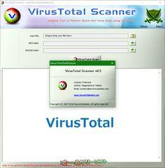 VirusTotal Scanner 6.5  VirusTotal Scanner--About--オールフリーソフト