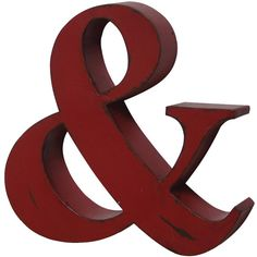 OH Maison Ampersand Wall Art - Industrial Red ($66) ❤ liked on Polyvore featuring home, home decor, wall art, decor, red, red home decor, red wall art, metal wall art, red metal wall art and metal home decor