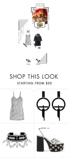 """○ [ g o o d b y e s t a g e ] 1 + 1 = 0 ( f e a t. p a y n e ) / i n k i g a y o ○"" by connie677 ❤ liked on Polyvore featuring Ashish, Toolally, Miu Miu and Miss Selfridge"