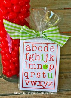 Want to show Team Members you appreciate everything they do, from A-Z? Show them with these alphabet gift bags. You may even fill out the card with adjectives that describe you team, such as Awesome, Bold, Caring, etc.
