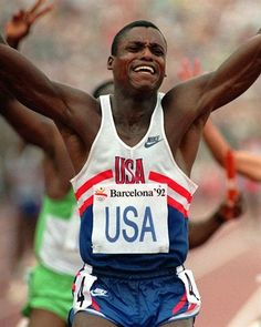 32 Famous Athletes Who Are Vegan Carl Lewis, Long Jump, High Jump, Barcelona, Triple Jump, Pole Vault, Olympic Sports, Track And Field, Football Players