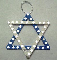 Why not get the kids to make this one? #holiday #diy #craft #holiday #holidays #Hanukkah #Hanukkahdecor