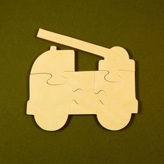 Firetruck Party Favors - Childrens Wood Puzzle - Package of 10 - All Natural Wooden Toys - Great for Toddlers and Kids Party