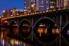 2) Beautiful shot of the Congress Avenue bridge in Austin at night! Taken by Julie O'Daniel Glenn.