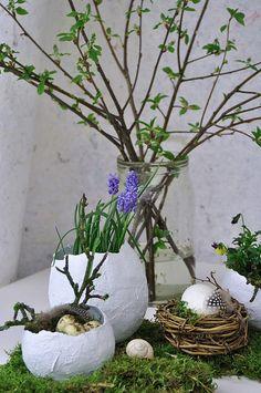 DIY, Osterdekoration, Gipseier, Gips, selbstgemacht, Anleitung, easter decoration, table setting