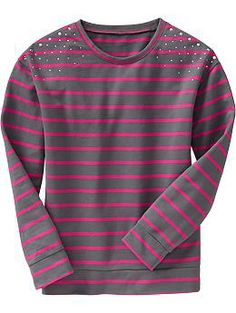 Girls Embellished Crew-Neck Tees | Old Navy