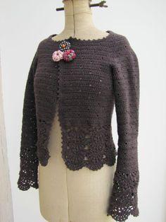 hortensias + gilet mull 013 - Photo de .Quand je crochette... - L'atelier de Marie