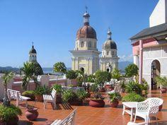The roof terrace of the Casa Grande hotel in Santiago de Cuba