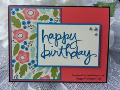 CYCI#79 - Convention Edition, Pretty  Petals designer series paper stack and Watercolor Words stamp set,  Stampin Up!