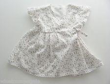 Blouse tunique manches courtes popeline blanc oiseaux Kitchoun 18 mois filles