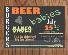 Baby shower for dad!  Could also be a diaper party!