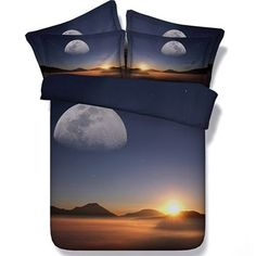 ベッドカバー・リネン 砂漠にて Digital Print カバーセット【Desert Sunset】