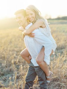 Engagement Portrait in Field | photography by http://claryphoto.com/