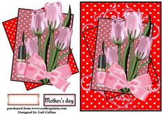 Mum on Craftsuprint designed by Gail Collins - a pretty card for mothers day or…