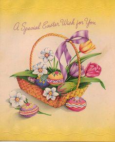 Vintage Easter Card 1950s