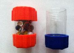Use squeeze containers to encourage muscle strengthening of the hands and bilateral coordination skills