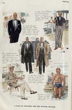 A Page of Pointers for the Winter Cruiser. Esquire Magazine, 1930's.