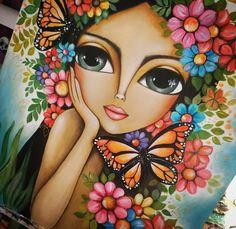 Cool Art Drawings, Art Drawings Sketches, Art Painting Gallery, Indian Art Paintings, Color Pencil Art, Butterfly Art, Mandala Art, Face Art, Creative Art