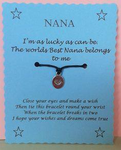 Nana Wish Bracelet Nan Keepsake Gift