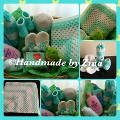 #crochet green #baby hamper. Comes gift-wrapped.  £78.50 exc. p