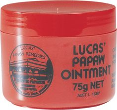 Lucas Papaw Ointment- the ultimate fix for crêpey skin under your eyes. I also use it on my forehead wrinkles and they smooth right out. Just apply a thin layer at night to wherever you want to look fabulous in the morning.