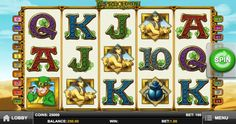 In this slot game, #Leprechauns is on a trip to find the tomb of #Cleopatra down in #Egypt. The setting of the game is against a backdrop of sand dunes stretching into the horizons and the Egyptian clear blue skies.