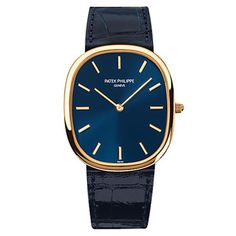 Such an elegant combination of deep blue and gold on this Patek Philippe.