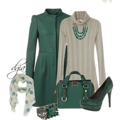 """""""Candela Rachel Sweater Dress"""" by dgia on Polyvore"""