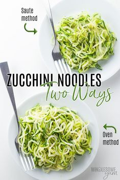 How To Make Zucchini Noodles - The Full Information to Making Zoodles! - Every thing about the way to make zucchini noodles! Contains a straightforward zucchini noodles recipe, the way to keep away from Cook Zucchini Noodles, How To Cook Zucchini, Zucchini Noodle Recipes, Zoodle Recipes, Spiralizer Recipes, Cooking Zucchini, Low Carb Recipes, Real Food Recipes, Vegetarian Recipes