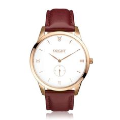 Knight Timepiece KTPM113 rose gold white brown front