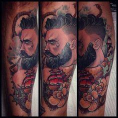 Done by Dean Kalcoff, tattoo artist at Dark Cloud Electric (Fitzroy), Australia  TattooStage.com - Rate & review your tattoo artist. #tattoo #tattoos #ink: