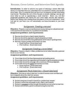resume cover letter and interview unit - What Does A Resume Cover Letter Look Like
