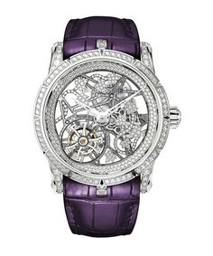 Часы Roger Dubuis RDDBEX0476 Excalibur Broceliande In White Gold - белые, золотые - швейцарские женские наручные часы