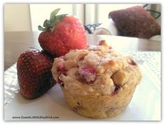 EASY Strawberry Banana Muffins ~ YUMMY! Making them right now. I'll post how they turned out.