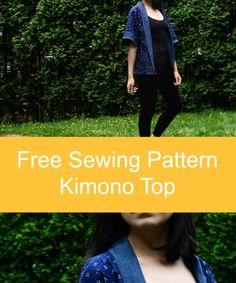 Sewing Tutorial : how to make a Kimono Top