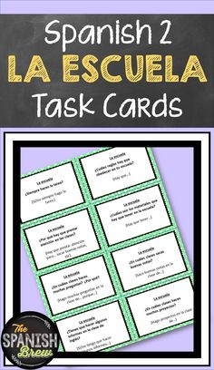 Spanish students will love these FREEBIE  task cards relating to the family. They can practice speaking using circumlocution skills or play card games. Requires no teacher prep!  A great free Spanish teaching resource for both elementary and high school classrooms. #Spanish #Spanishclass #teacher#thespanishbrew Spanish Classroom Activities, Spanish Teaching Resources, Teaching Ideas, Vocabulary Activities, Class Activities, Classroom Ideas, Free Spanish Lessons, Spanish Lesson Plans, French Lessons