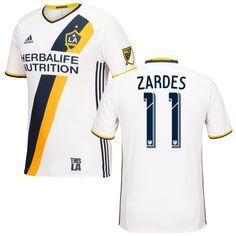Gyasi Zardes LA Galaxy adidas 2016/17 Authentic Primary Jersey - White