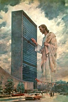 "Wake up call to the United Nations   entitled ""The Prince of Peace"" painted by Harry Anderson"
