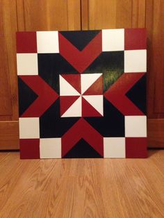 2 X 2 Barn quilt. I made and sold.  Money donated to Marc & Casey's adoption fund.