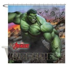 incredible hulk products   Avengers Incredible Hulk Shower Curtain for