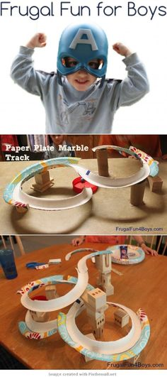 """We just can't get enough of marble tracks at our house! Making our own has been fun, and it's different every time! Last year, we made a marble run with paper towel tubes and other items from the recycle bin, and this summer we made one out of pool noodles. When I saw the """"marble coaster"""" idea in the Sept. 2012 Family Fun magazine, I knew we had to try it! They used rims cut from paper plates to make the track. What a genius idea!"""