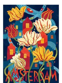 Amsterdam Poster (50x70cm)
